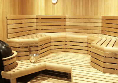 Custom-Cut Sauna