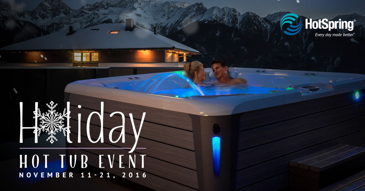 Annual holiday hot tub event rocky mountain pools and spas calgary hot tubs sales and service for Rocky mountain house swimming pool schedule